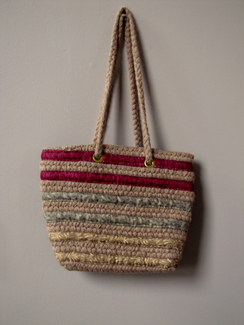 Photo of Alpaca and Recycled Textile Purse