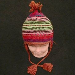 Photo of Alpaca Hat w/Ripple Pattern for Youth