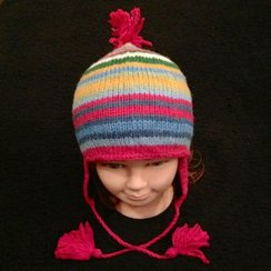 Photo of Alpaca Hat w/Cool Colors for Youth