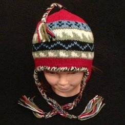 Photo of Alpaca Hat w/Double Braid for Youth