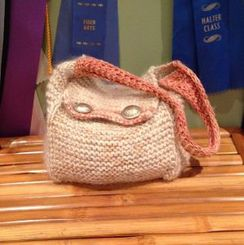 Photo of Alpaca Handbag with buttons