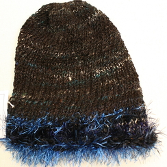 Photo of Black Alpaca Hand Spun Hat