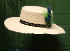 Photo of Natural White Pill Box Hat