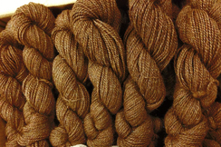 Photo of Med Brown Sport Weight Yarn with Glitz