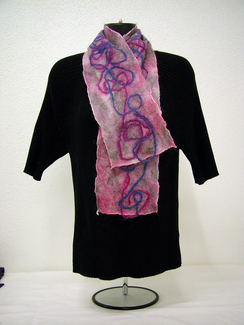 Photo of Needle Felted Alpaca Scarf-Includes Shpg