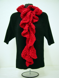 Photo of Hand Crochet Ruffle Scarf-Includes Shpg