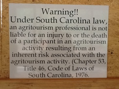 Photo of Agritourism warning sign
