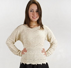 Photo of Scalloped Sweaters