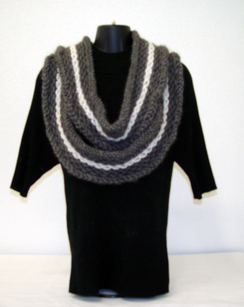 Photo of Hand Knit Double Wrap Cowl-Includes Shpg