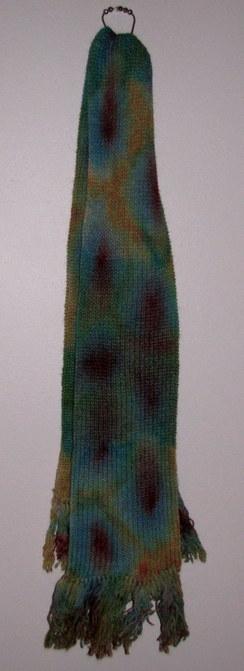 Photo of Alpaca Ribbed Knit Artisan Scarf