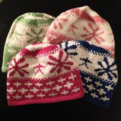 Photo of Colorful Snowflake Alpaca Hat