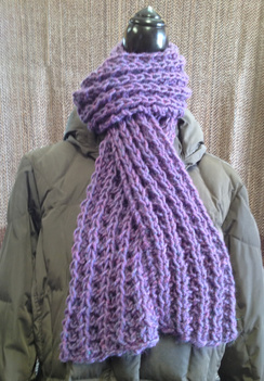 Photo of Linda's Workshop: Purple Lace Scarf