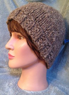 Photo of Natural Alpaca Chunky Knit Hat