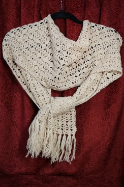 Photo of Lace Weight Alpaca Shawl