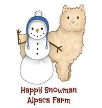 Happy Snowman Alpaca Farm - Logo