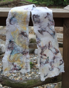 Photo of Cicely Scarf / Felted Cobweb