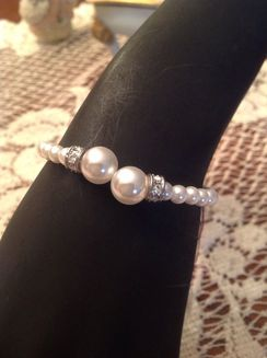Photo of Rhinestone Pearl Bracelet