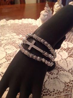 Photo of Rhinestone Cross Wrap bracelet
