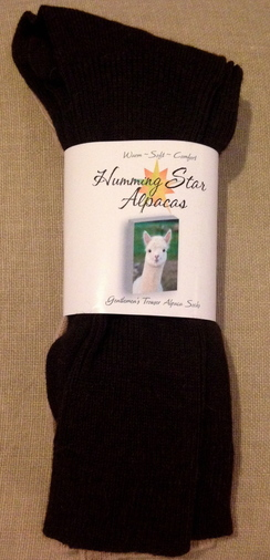 Photo of Humming Star Alpaca Trouser Socks/Ladies