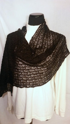 Photo of Suri Alpaca Lace Shawl
