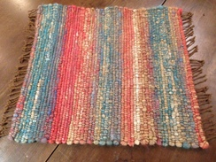 Photo of Rug - Alpaca Core Spun rug yarn Mat