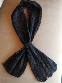 Photo of Hand Knitted pull-though Lace Scarf