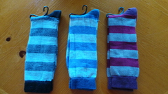 Photo of Tri Colored Stripe Socks