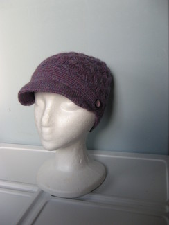 Photo of Knit 100% Alpaca Hat in Purple