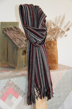 Photo of Scarf - 100% Alpaca Multi-Dark Scarf