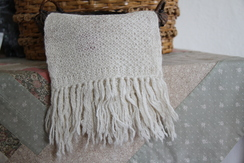 Photo of Scarf - 100% Alpaca (pattern) Beige
