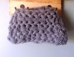 Photo of Hairpin Lace Alpaca Infinity Scarf