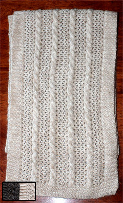 Photo of Scarf-Natural Cable & Lace