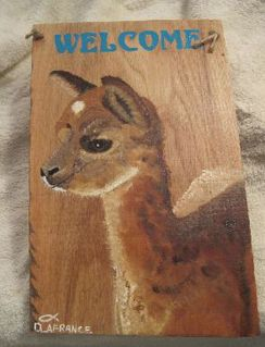 Photo of Alpaca Welcome Plaque - Fawn Cria