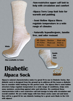 Photo of Alpaca Diabetic Socks