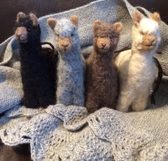 Photo of Huacaya Felted Alpaca Ornament