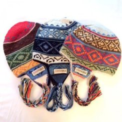 "Photo of 100% Alpaca Hand-Knit ""Diamonds"""