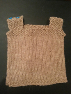 Photo of Hand-knit Newborn Baby Vest