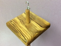 Photo of Olivewood drop spindle 7