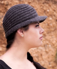 Photo of Ribbed Brimmed Alpaca Hat