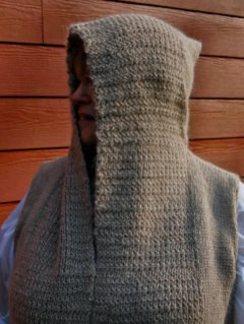 Photo of 100% Alpaca Vest with Hoodie