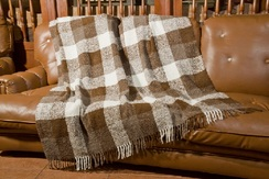 Photo of Plaid Boucle Alpaca Throw
