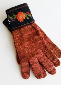 Photo of Embroidered Alpaca Gloves