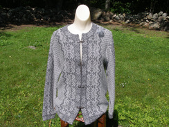 Photo of 100% Alpaca Cardigan in Grey