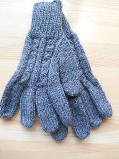 Photo of Cable knit gloves