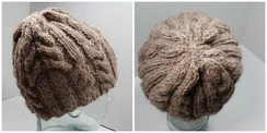 """Photo of Cabled """"Rosie"""" hat"""