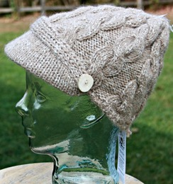 Photo of Cabled brim hat