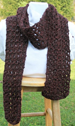 Photo of Chunky crocheted scarf