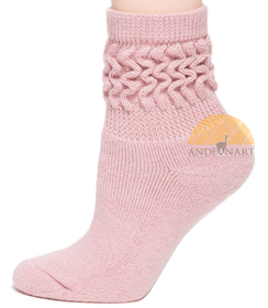 Photo of Alpaca Scrunch Low-Crew Terri-Lined Sock