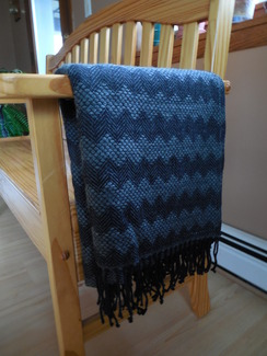 Photo of Alpaca throw - Black with gray