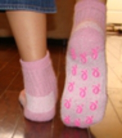 Photo of My Comfy Survivor Slipper Socks